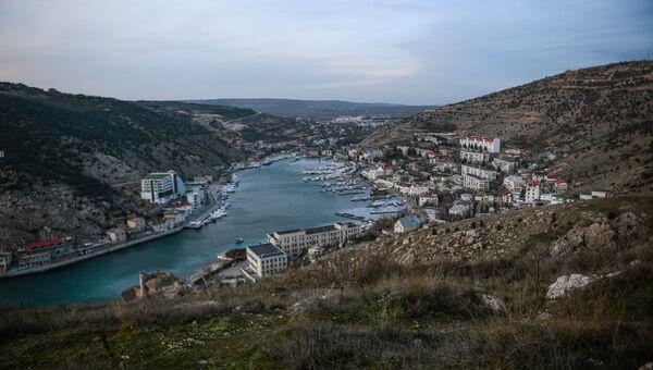 Вид города Балаклавы и Балаклавской бухты. Архивное фото