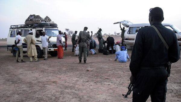 Беженцы на границе Нигера и Нигерии. Архивное фото