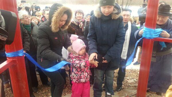 Торжественное открытие буддийской  Пагоды рая в московском районе Отрадное