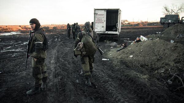 Ополченцы ДНР в Донецкой области. Архивное фото
