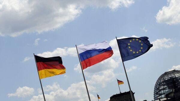 Флаги России и Германии. Архивное фото