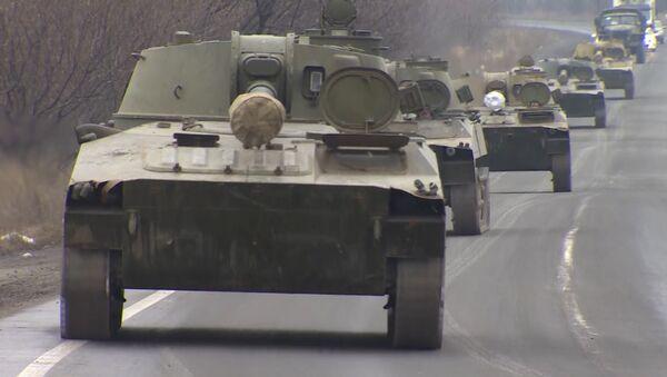 САУ Гвоздика ДНР отошли от линии соприкосновения под наблюдением ОБСЕ