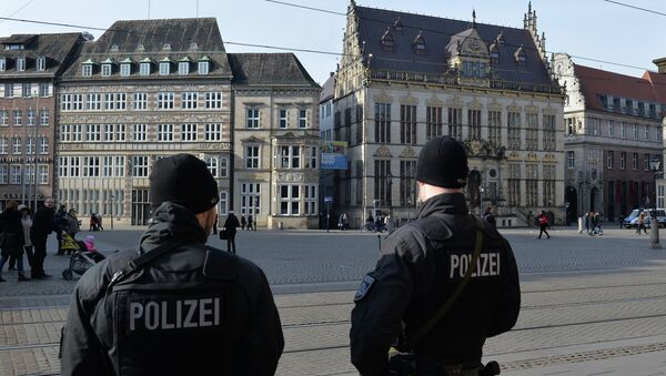 Полиция возле исламского культурного центра в Бремене