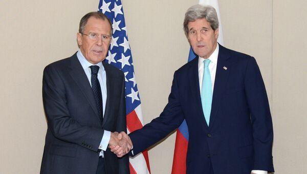 Встреча главы МИД РФ С.Лаврова с госсекретарем США Д.Керри. Архивное фото
