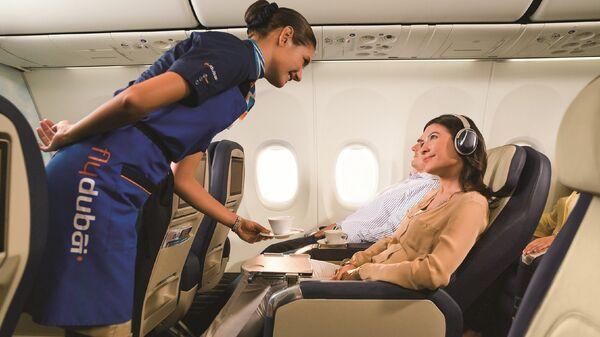 В салоне бизнес-класса авиакомпании flydubai