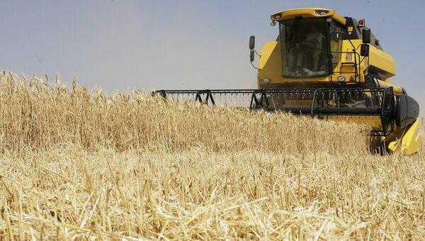 Уборка урожая зерновых культур, архивное фото
