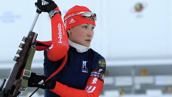 Российская биатлонистка Анна Никулина. Архивное фото