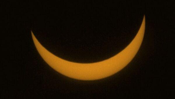 Частичная фаза полного солнечного затмения 2006 года