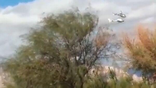 Очевидец снял момент столкновения двух вертолетов в Аргентине