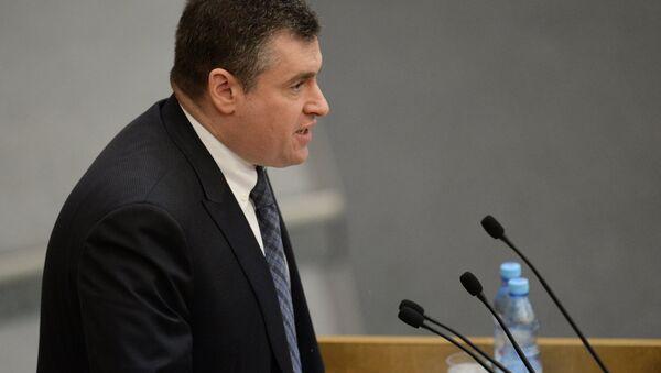 Леонид Слуцкий на пленарном заседании Государственной Думы РФ. Архивное фото
