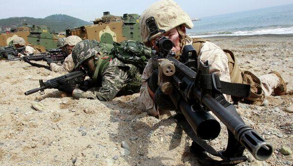 Совместные учения южнокорейских и американских военных