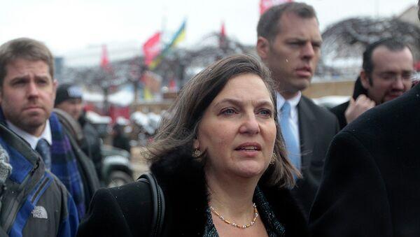 Помощник госсекретаря США Виктория Нуланд в Киеве. 2013 год. Архивное фото.