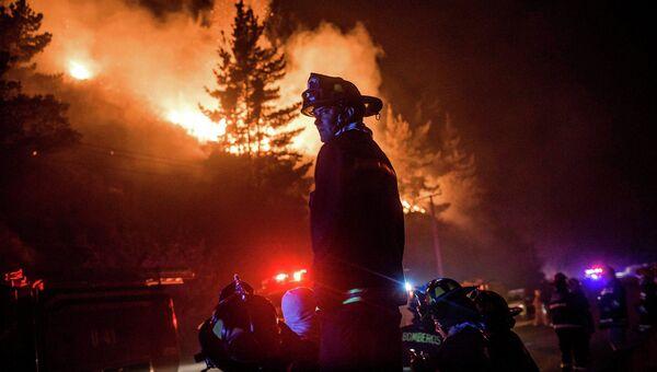 Лесные пожары в Вальпараисо, Чили