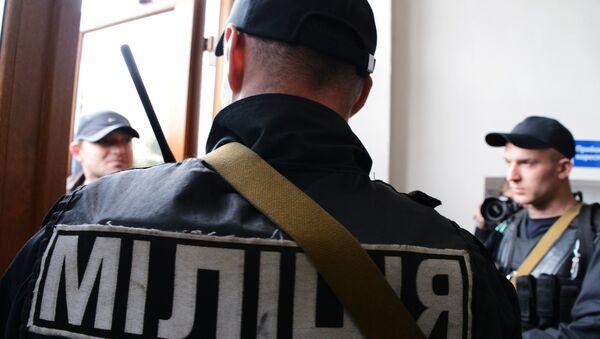 Сотрудники МВД Украины. Архивное фото