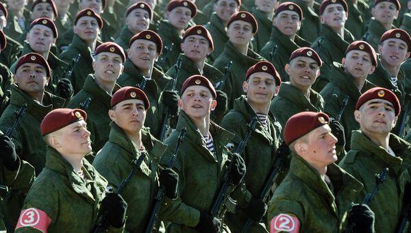 Военнослужащие Отдельной дивизии оперативного назначения им. Дзержинского. Архивное фото
