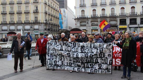 Акция протеста в Мадриде против действий генконсула в России