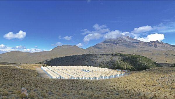 Телескоп HAWC на склонах вулкана Сьерра-Негра в Мексике