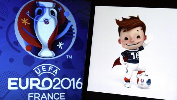Лого Чемпионата Европы по футболу 2016 во Франции