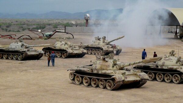 Военная техника сторонников президента Йемена Абд Раббу Мансура Хади. Архивное фото