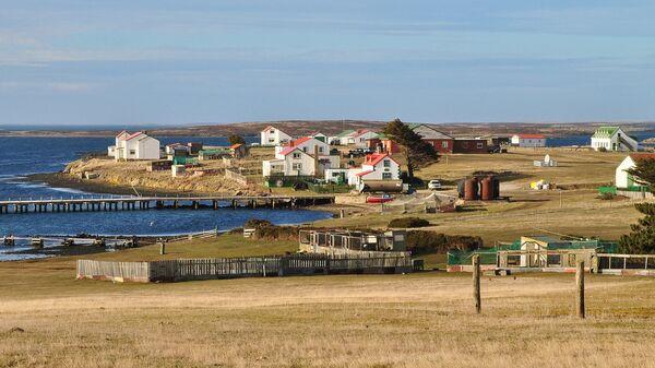 Вид на Гуз-Грин, Фолклендские острова. Архивное фото