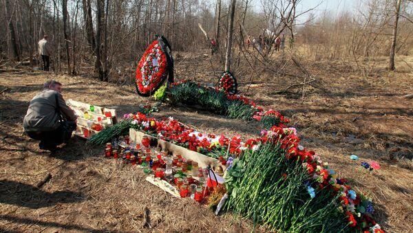 На месте авиакатастрофы под Смоленском