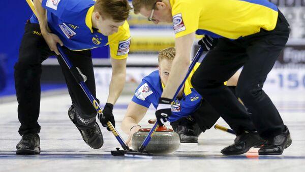 Команда Швеции на чемпионате мира по керлингу