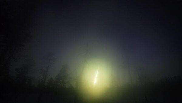 Кольский метеорит в небе над Россией