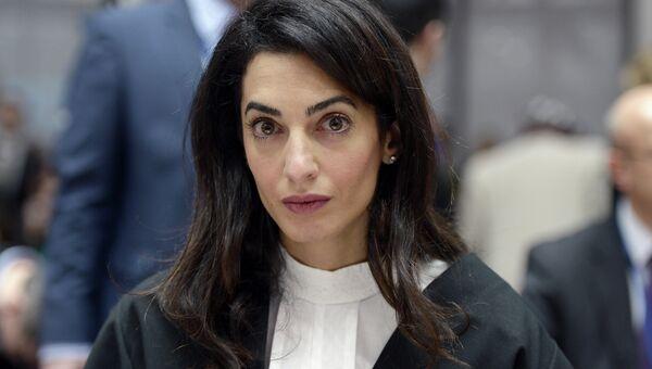 Супруга актера Джорджа Клуни, адвокат Амаль Аламуддин. Архивное фото