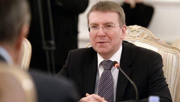 Глава МИД Латвии Эдгар Ринкевич. Архивное фото