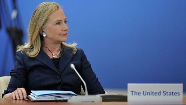 Государственный секретарь Соединенных Штатов Америки Хиллари Клинтон. Архивное фото