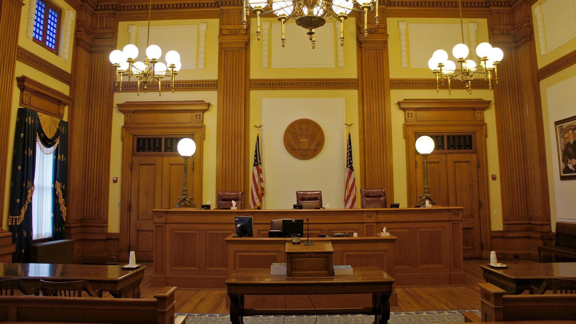 Зал судебных заседаний в Портленде, США - РИА Новости, 1920, 29.05.2021