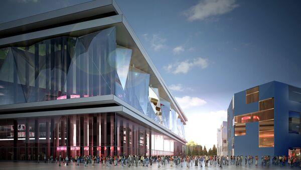 Макет будущего футбольного стадиона в Калининграде