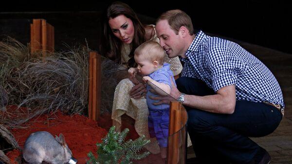 Принц Уильям и Кейт Миддлтон с сыном Джорджем в зоопарке Сиднея