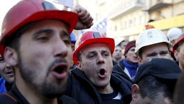 Шахтеры вышли на митинг в Киеве с требованием выплаты заработной платы от правительства