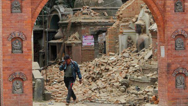 Последствия землетрясения в Бхактапуре, Непал. Архивное фото