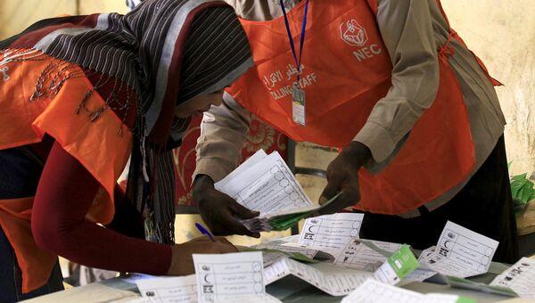 Подсчет голосов после выборов в Хартуме, Судан