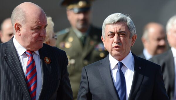 Прилет президента Армении Сержа Саргсяна в Москву