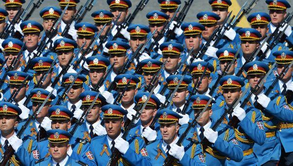 Военнослужащие Вооруженных сил Сербии. Архивное фото