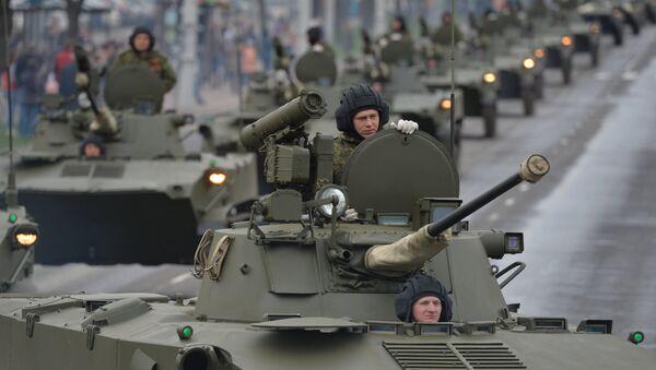 Репетиция парада в Минске в честь 70-летия Победы в Великой Отечественной войне