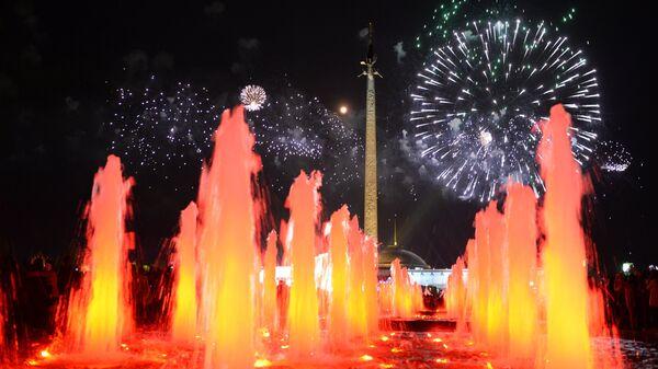Праздничный салют в Москве в честь 70-летия Победы в Великой Отечественной войне 1941-1945 годов