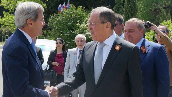 Встреча главы МИД РФ С. Лаврова и госсекретаря США Дж.Керри в Сочи