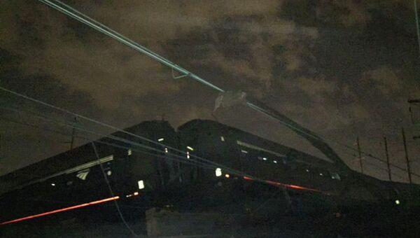 Место крушения пассажирского поезда Amtrak в Филадельфии. Архивное фото