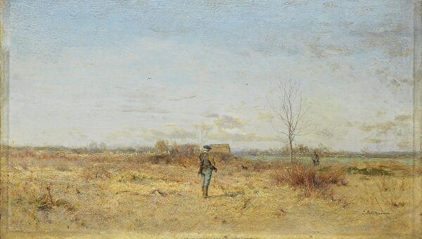 Картина Ивана Похитонова Пейзаж с охотниками
