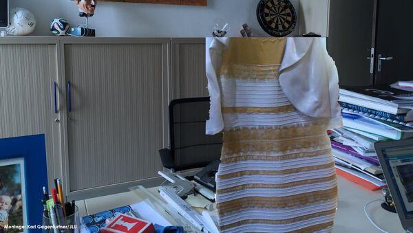 Фотография, на которой знаменитое платье из Tumblr кажется бело-золотым или черно-голубым