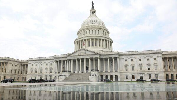 Местопребывание Конгресса США на Капитолийском холме в Вашингтоне, США