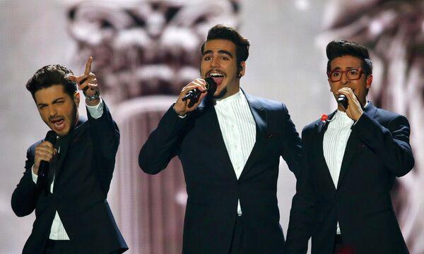 Трио Il Volo из Италии выступает в финале конкурса Евровидение