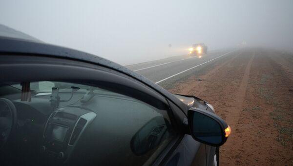 Смог на дороге. Архивное фото