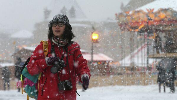 Турист в Москве. Архивное фото