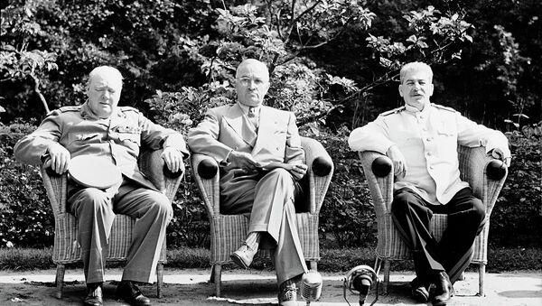 Потсдамская конференция. Архивное фото
