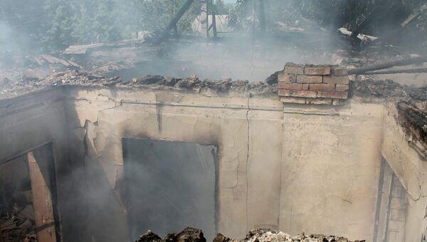 Последствия обстрелов в Донецкой области. Архивное фото